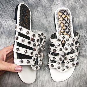 New Sam Edelman Beatris studded slide sandals